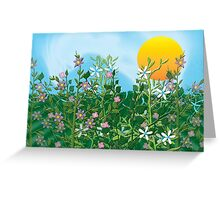 A Perfect Day - Flower Garden in the Sun Greeting Card