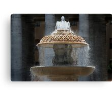 Fountain - St Peter's Square Canvas Print