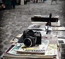Old camera in market, Havana Cuba by Stephen Colquitt