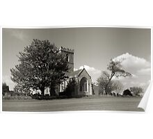 The Parish Church of St Andrew | B&W Poster