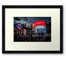 Picadilly Circus Framed Print