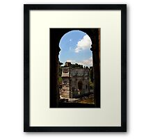 Arch of Constantine - as seen from the Colosseum - Rome Framed Print
