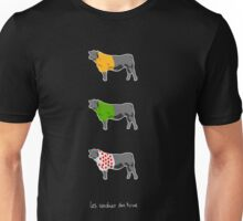 Les Vaches du Tour - dark Unisex T-Shirt