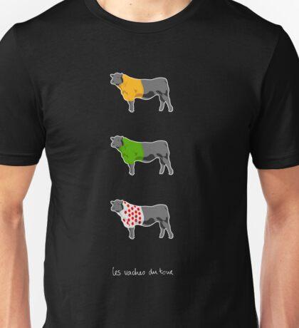 Les Vaches du Tour - dark Unisex T-Shirt