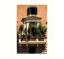 Balcony Garden - Italy Art Print