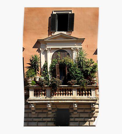 Balcony Garden - Italy Poster