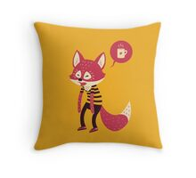 Good Morning Fox Throw Pillow
