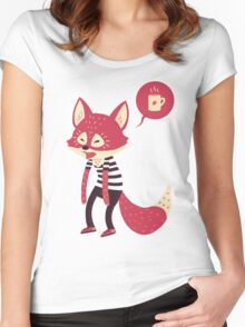 Good Morning Fox Women's Fitted Scoop T-Shirt