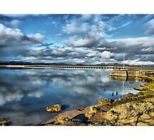 Kent Viaduct and Arnside Pier Photographic Print