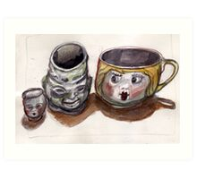 Cup has Friends Art Print