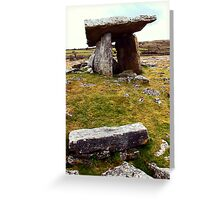 Poulnabrone portal tomb Greeting Card