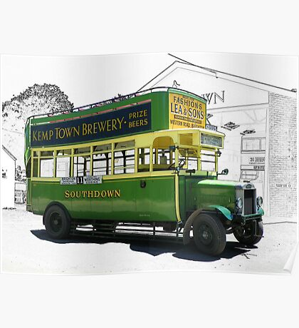 Southdown Bus 1920's Poster