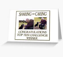 Sharing & caring Top Ten Challenge banner Greeting Card