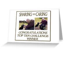 Sharing & caring Top Ten Challenge banner Greeting Card