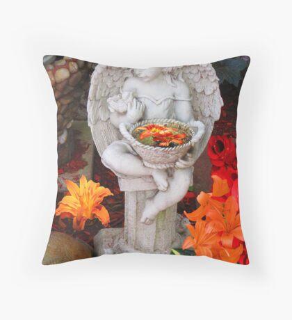The Garden Angel Throw Pillow