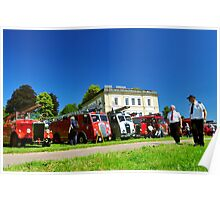 Fire Engine and Vintage Vehicle Rally Escot House Poster