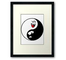 Yin Yang Boo & Bullet Bill Framed Print