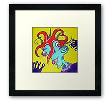 Crazy Medusa Joker  Framed Print