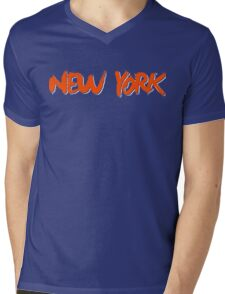 New York: Royal Mens V-Neck T-Shirt