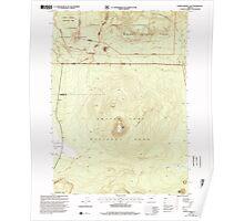 USGS Topo Map Oregon Pumice Desert East 281186 1999 24000 Poster