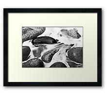 Rock in Motion, Porth Nanven, Cornwall Framed Print