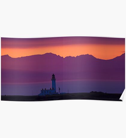 Tranquil Turnberry Lighthouse Poster