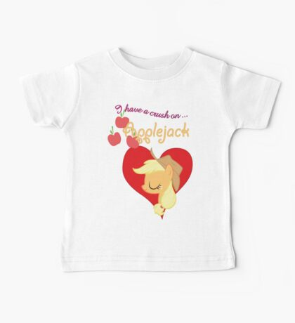 I have a crush on... Applejack - with text Kids Clothes