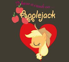 I have a crush on... Applejack - with text Unisex T-Shirt