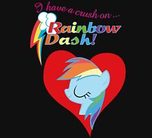 I have a crush on... Rainbow Dash - with text Unisex T-Shirt