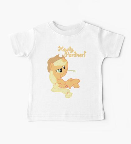 Howdy, Pardner! with Text Baby Tee