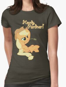 Howdy, Pardner! with Text Womens Fitted T-Shirt