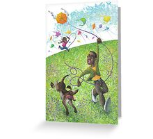 Katie and the Kite Greeting Card