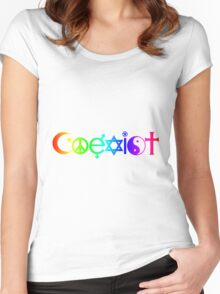 Coexist Rainbow Women's Fitted Scoop T-Shirt