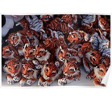 Tiny fairground tigers Poster