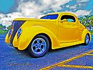 Yellow Ford Coupe by ChasSinklier