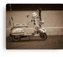 Vintage scooter Canvas Print