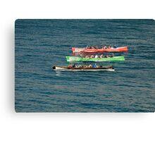 Gig racing Newquay cornwall Canvas Print