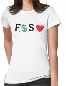 Official Fuck Money Spread Love - J.cole (Black) Womens Fitted T-Shirt