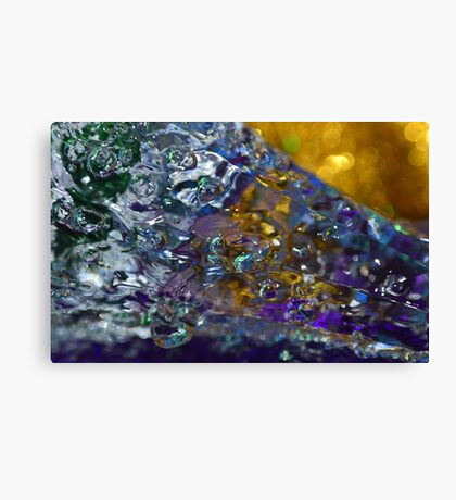 Water abstraction Canvas Print