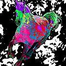 Paint Splatter Unicorn by GrimDork