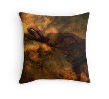 Blacksnake Swimming Throw Pillow