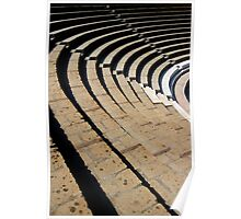 Seating - The Large Theatre - Pompeii Poster