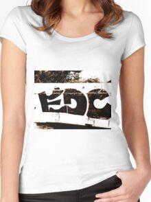 EDC Graffiti  Women's Fitted Scoop T-Shirt