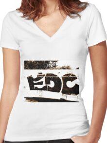 EDC Graffiti  Women's Fitted V-Neck T-Shirt