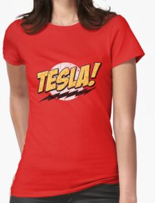 Tesla! (Distressed) Womens Fitted T-Shirt