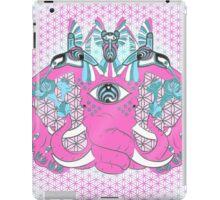 Bass nectar Pink Elephant and Hummingbirds iPad Case/Skin