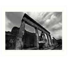 Temple Ruins - Pompeii Art Print