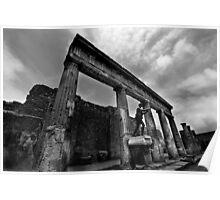 Temple Ruins - Pompeii Poster