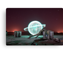 green orb - rocking a ring Canvas Print