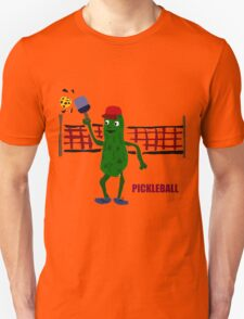 Funny Pickleball Pickle and Net Unisex T-Shirt